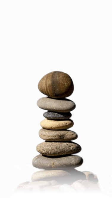 Picture of stones balanced in a pile