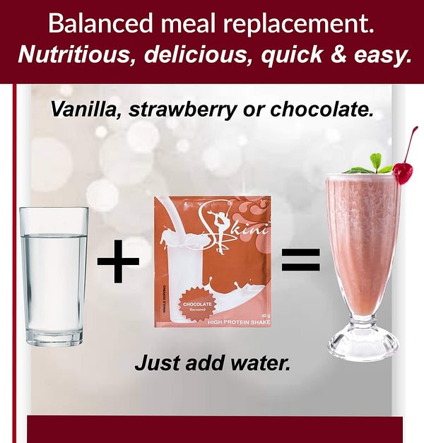 Just add water to Skini Weight-loss Shakes